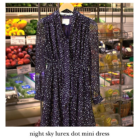 night sky lurex dot mini dress