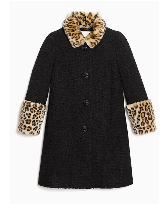 jewel buttonboucle coat