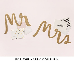 gifts for the happy couple.