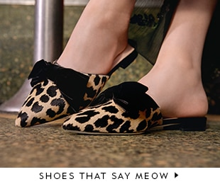 shoes that say meow.