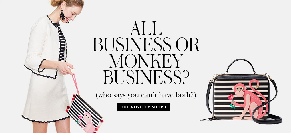 all business or monkey business? (who says you can't have both?) the novelty shop.