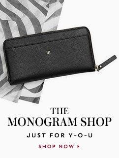 the monogram shop. shop now.